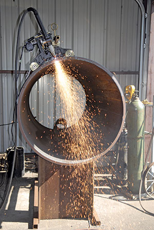 Plasma cutting systems were first developed for cutting plate steel, but offer an alternative to other processes, such as oxygen-acetylene, for cutting and beveling pipe sections in the shop and in the field.