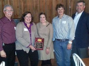 PendaForm accepts New Product Innovation award from Columbia County, Wis., Economic Development group. From left: Mark Maederer, Heidi Bulgrin, Mollie Burkhardt, Tony Wangelin and Tim Williams. (PRNewsFoto/PendaForm)