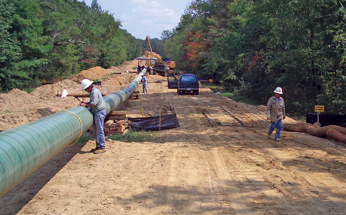 Stringing Phase of a Pipeline